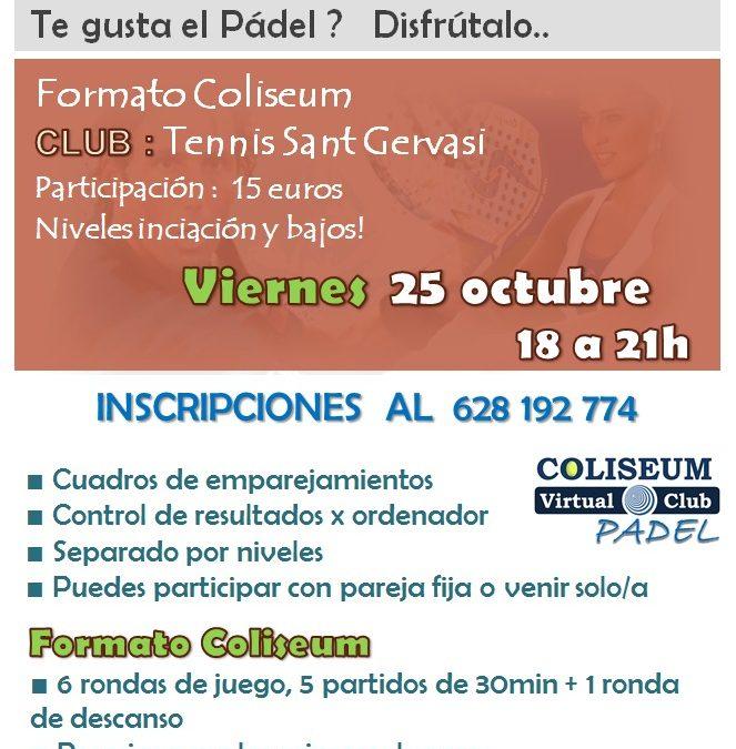 Campionat de Pàdel Divendres 25 d'Octubre